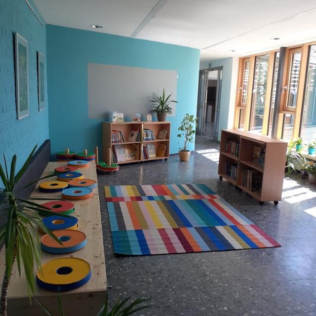 Die neue Leseecke der Lindenschule